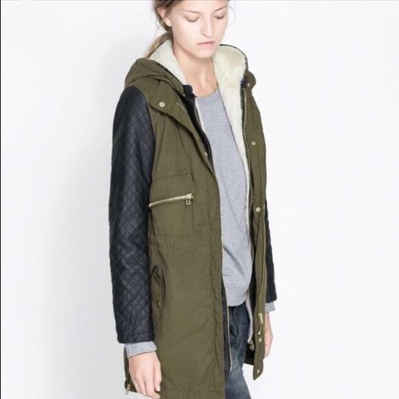 Zara Jackets & Blazers - Zara Convertible Fur-lined Coat